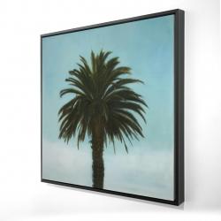 Framed 24 x 24 - 3D - Tropical palm