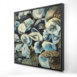 Framed 24 x 24 - 3D - Oyster shells