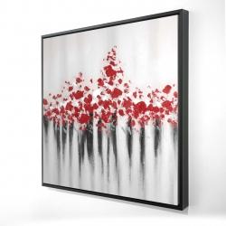 Framed 24 x 24 - 3D - Falling red dot