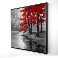Framed 24 x 24 - 3D - Peaceful view