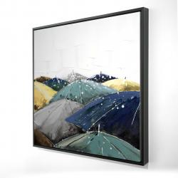Framed 24 x 24 - 3D - Umbrellas