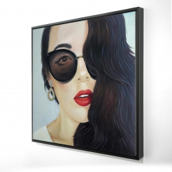 Framed 24 x 24 - 3D - Fashionable sunglasses