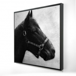 Framed 24 x 24 - 3D - Gallopin the horse