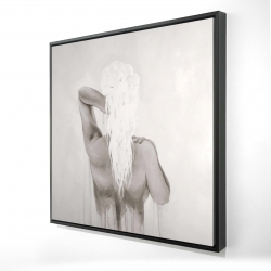 Framed 24 x 24 - 3D - Beautiful dreamy woman
