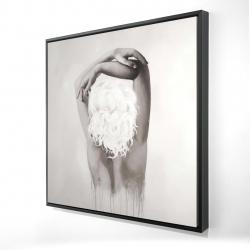 Framed 24 x 24 - 3D - Feminine delicacy