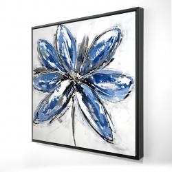 Framed 24 x 24 - 3D - Blue petal
