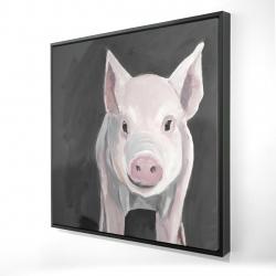 Framed 24 x 24 - 3D - Little piglet