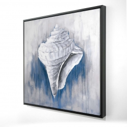 Framed 24 x 24 - 3D - Blue conical shell