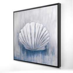 Framed 36 x 36 - 3D - Blue feston shell