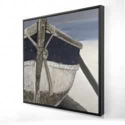 Framed 24 x 24 - 3D - Bateau