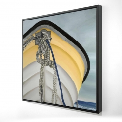 Framed 24 x 24 - 3D - The yellow boat
