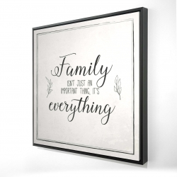 Framed 24 x 24 - 3D - Family