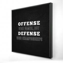 Framed 24 x 24 - 3D - Offense wins games...