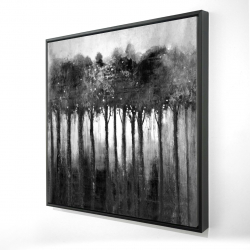 Framed 36 x 36 - 3D - Monochrome trees