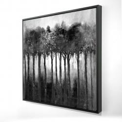 Framed 24 x 24 - 3D - Monochrome trees