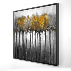 Framed 36 x 36 - 3D - Illuminated forest