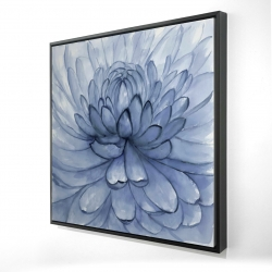 Framed 24 x 24 - 3D - Blue petals flower