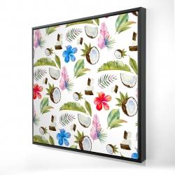 Framed 24 x 24 - 3D - Tropical pattern