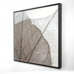 Framed 24 x 24 - 3D - Translucent dried leaves