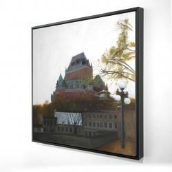 Framed 24 x 24 - 3D - Le château de frontenac in autumn