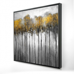 Framed 24 x 24 - 3D - Abstract yellow forest