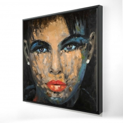 Framed 24 x 24 - 3D - Abstract female portrait