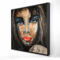 Framed 24 x 24 - 3D - Colorful portrait