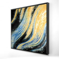 Framed 24 x 24 - 3D - Wavy wave