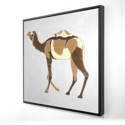 Framed 24 x 24 - 3D - Retro dromadaire