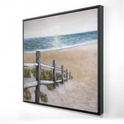 Framed 24 x 24 - 3D - Soft seaside