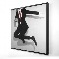 Framed 24 x 24 - 3D - Classical jumping man