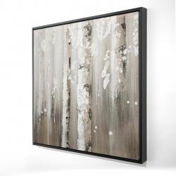 Framed 24 x 24 - 3D - Delicate birch trees