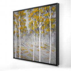 Framed 24 x 24 - 3D - Birch forest