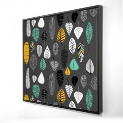 Framed 24 x 24 - 3D - Leaves illustration