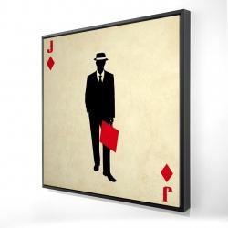 Framed 24 x 24 - 3D - Jack of diamonds