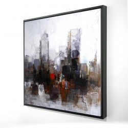 Framed 24 x 24 - 3D - Obscure city
