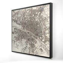 Framed 24 x 24 - 3D - Paris