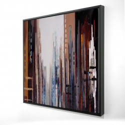 Framed 24 x 24 - 3D - Abstract buildings