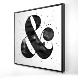 Framed 24 x 24 - 3D - Ampersand
