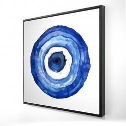 Framed 24 x 24 - 3D - Erbulus blue evil eye