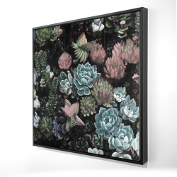 Framed 24 x 24 - 3D - Succulent set