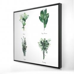 Framed 24 x 24 - 3D - Fine herbs