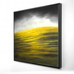 Framed 24 x 24 - 3D - Yellow hill