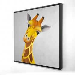 Framed 24 x 24 - 3D - Curious giraffe