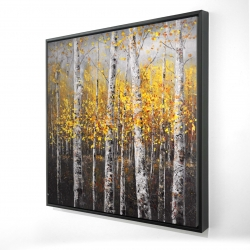 Framed 24 x 24 - 3D - Sunny birch trees