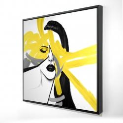 Framed 24 x 24 - 3D - Beauty divided