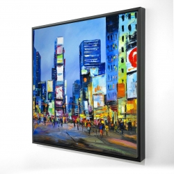 Framed 24 x 24 - 3D - Cityscape in times square