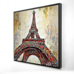 Framed 24 x 24 - 3D - Abstract eiffel tower