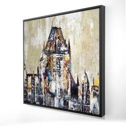 Framed 24 x 24 - 3D - Abstract château frontenac