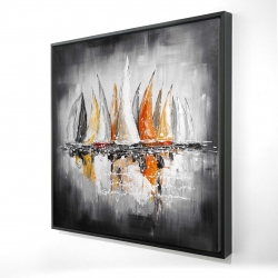 Framed 24 x 24 - 3D - Sails on the winds